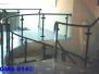 Geländer- modern  mit Glas